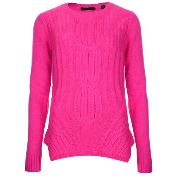 c8f3bdd2882e99 Ted Baker Daisuma Hot Pink Cable Knit Sweater. M_5ad7dc4ccaab44ec077d62d0
